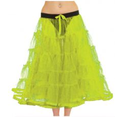 Crazy Chick 5 Tier Petticoat with Ribbon Yellow TuTu Skirt (Approximately 30 Inches Long)