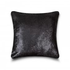 CUSHION COVER LONA SEQUIN 43x43 BLACK GOLD