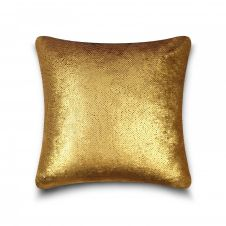 CUSHION COVER LONA SEQUIN 43x43 GOLD SILVER