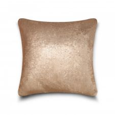CUSHION COVER LONA SEQUIN 43x43 MINK SILVER