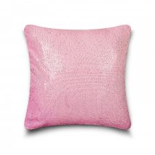 CUSHION COVER LONA SEQUIN 43x43 PINK SILVER