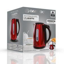 Daewoo Kensington Jug Kettle - 1.7L Red