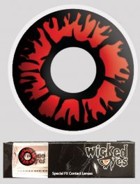 Wicked Eyes Daily Fashion Lenses Explosion Red