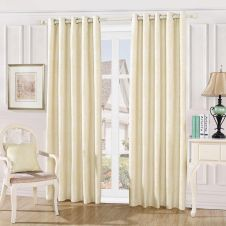 DAMASK EMBOSSED CURTAINS CREAM