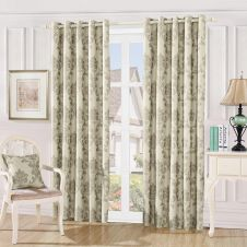 DAMASK EMBOSSED CURTAINS MINK