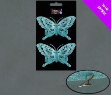 Davies Products 2 Glitter Butterflies - Ice
