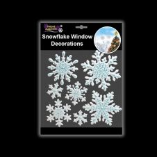 Davies Products Embossed Snowflakes Window Stickers - Ice