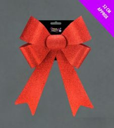 Davies Products Glitter Bow - 32cm Red