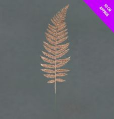 Davies Products Glitter Wire Fern Leaf - 50cm Champagne