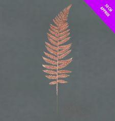 Davies Products Glitter Wire Fern Leaf - 50cm Rose Gold