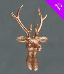 Davies Products Hanging Stags Head - 22cm Rose Gold