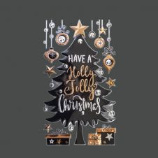 Davies Products Holly Jolly Sticker - 47cm