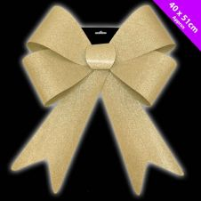 Davies Products Jumbo Glitter Bow - Gold