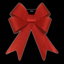 Davies Products Jumbo Glitter Bow - Red