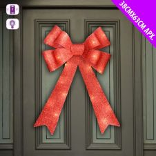 Davies Products LED Door Bow - 38cm x 63cm Red