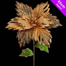 Davies Products Luxury Poinsettia Pick - 45cm Champagne