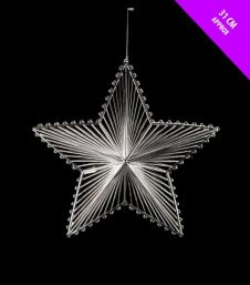 Davies Products Shiny 3D Starburst - 31cm Silver