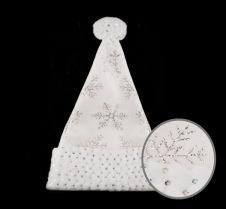 Davies Products Snowflake Velvet Hat - Cream