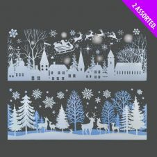Davies Products White Scene Long Window Stickers - Assorted