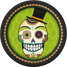 Day of Dead 9 Inches Plates (Pack of 8)