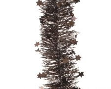 Deco 4 Ply Star Garland Tinsel - 270cm Dark Chocolate