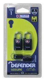 Defender Travel Padlocks Twinpack - 20mm