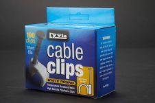 Dencon 10mm White Round Cable Clips - Box 100