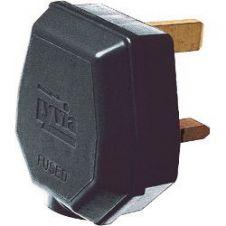 Dencon 13A, 3 Pin Nylon Plug, Fused 13A to BS1363/A, Black