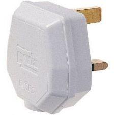 Dencon 13A, 3 Pin Nylon Plug, Fused 13A to BS1363/A, White
