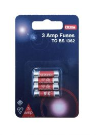 Dencon 3A Fuses - Blister Packed (4)