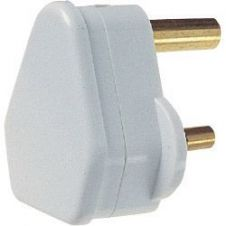 Dencon 5A, 3 Pin Plug to BS546, White - Bubble Packed