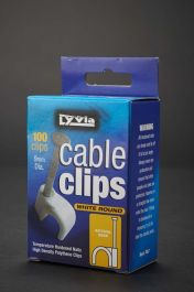 Dencon 9mm White Round Cable Clips - Box 100
