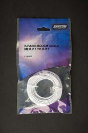 Dencon Broadband Modem Lead 5m RJ11/RJ11 - Bubble Packed