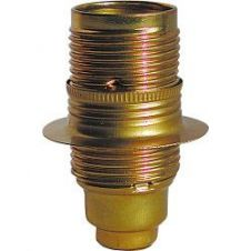 Dencon SES Brass Lampholder with Earth - Pre-Packed