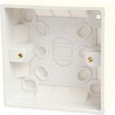 Dencon Single Gang Box (inside 41mm, outside 44mm) with Earth - Skin Packed