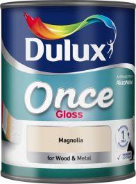 Dulux Once Gloss 750ml - Magnolia