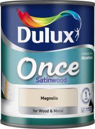 Dulux Once Satinwood 750ml - Magnolia