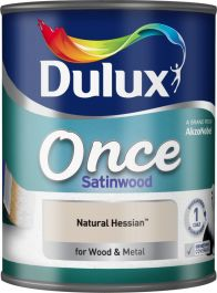Dulux Once Satinwood 750ml - Natural Hessian