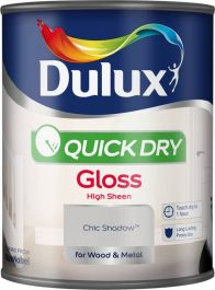Dulux Quick Dry Gloss 750ml - Chic Shadow