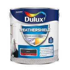 Dulux Weathershield Exterior Gloss 2.5L - Black