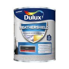 Dulux Weathershield Exterior Gloss 750ml - Black