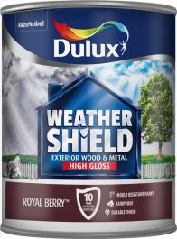 Dulux Weathershield Exterior Gloss 750ml - Royal Berry