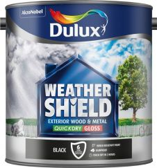 Dulux Weathershield Exterior Quick Dry Gloss 2.5L - Black