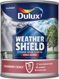 Dulux Weathershield Gloss 750ml - Cranberry/Crunch