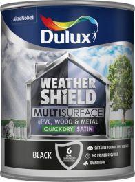 Dulux Weathershield Multi Surface 750ml - Black