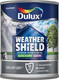 Dulux Weathershield Quick Dry Exterior Satin 750ml - Gallant Grey