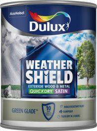 Dulux Weathershield Quick Dry Exterior Satin 750ml - Green Glade