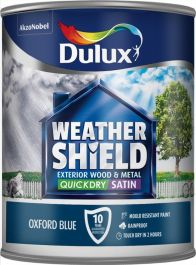 Dulux Weathershield Quick Dry Exterior Satin 750ml - Oxford Blue