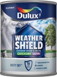 Dulux Weathershield Quick Dry Satin 750ml - Misty Sky