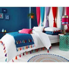 DUVET SET TASSLE WHITE